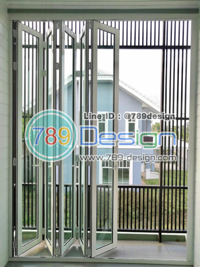 งานอลูมิเนียม บานเฟี้ยมไต้หวัน  ขอบคุณ คูณหน่อย หมู่บ้าน Mil Ton รามอินทรา ขอบคุณที่ไว้วางใจ 789Design Tel. 095-946-3659 ชยพล
