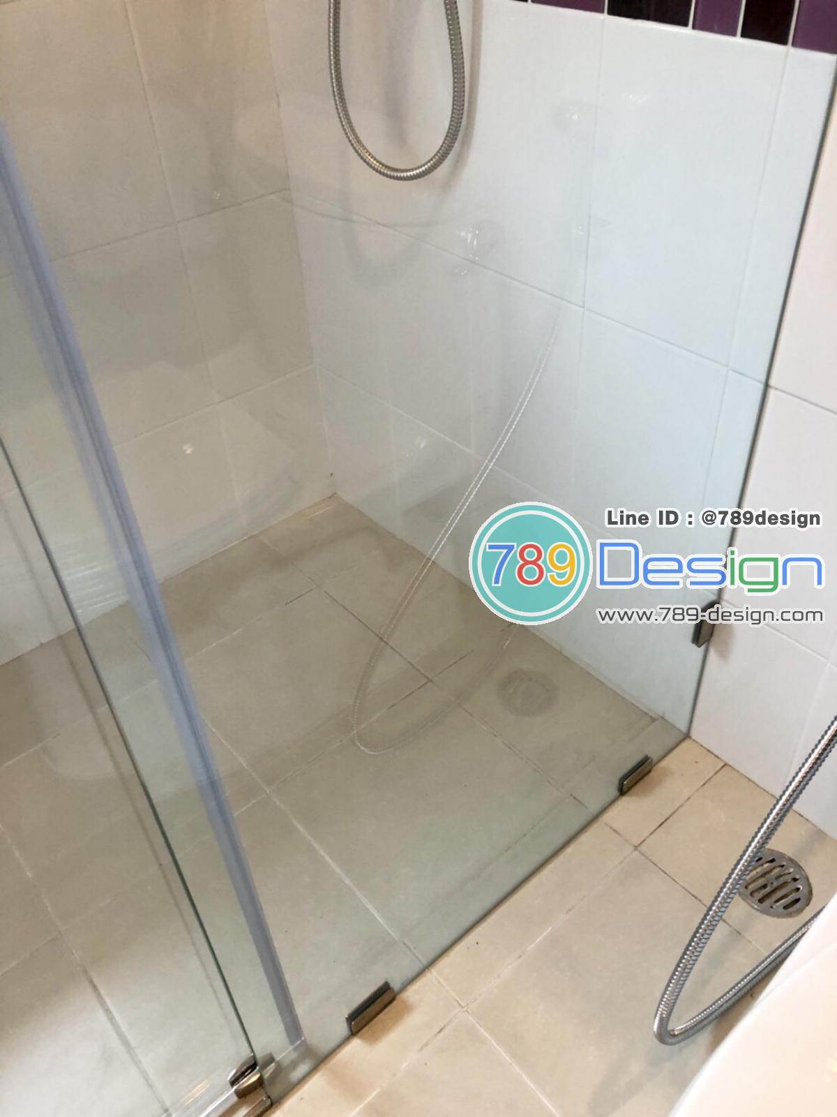 กระจกกั้นอาบน้ำ กระจก showerเทอร์เปอร์ แบบ บานเปิด และบานเลื่อนเปลือย 10 มิลเทมเปอร์